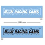 Die Cut MOON Racing Cam Sticker