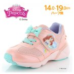 ディズニー [21年春新作] 男の子 女の子 子供靴 キッズスニーカー DN C1272 ピンク moonstar