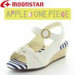 子供靴 ジュニアサンダル ムーンスター SG C467 ホワイト