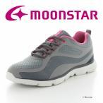 ムーンスター [セール] moonstar レディース ウォーキングシューズ SPLT L160 ダークグレイ 幅広3E 抗菌防臭