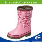 長靴 キッズ ヒロミチナカノ [セール] 子供靴 女子 レインブーツ HN WC171R ピンク moonstar 防水タイプ