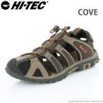 涼鞋 - ハイテック メンズ アウトドア サンダル COVE ダークチョコレート/バーントオレンジ HI-TEC