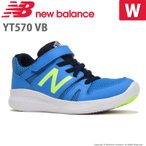 ニューバランス [セール] newbalance 子供靴 キッズジュニアスニーカー NB YT570 VB W ブルー/ライム