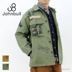 ジョンブル JOHNBULL M-43ミリタリーシャツ 13628 メンズ 落書き風ランダムプリント フィールド ジャケット/返品・交換不可/SALE セール