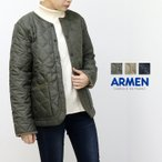 アーメン ARMEN フリースヒートキルト・ノーカラージャケット NAM1851 レディース キルティング ミディアム丈/返品・交換不可/SALE セール