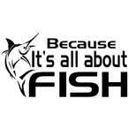 ショッピング海外 海外限定 新品 フィッシング 魚釣りが全て 色変更可 ステッカー
