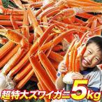 螃蟹 - [カニ かに 蟹]あすつく対応 超特大ずわいがに脚5kg ズワイガニ ボイルかに 食べ放題  冷凍便