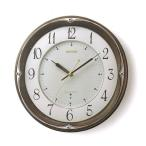 ショッピング壁掛け 壁掛け時計 電波時計 リズム RHYTHM インテリア 掛時計 8MY459HG06 文字入れ名入れ対応、有料 取り寄せ品