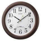 壁掛け時計 電波時計 8MY509-006 連続秒針 スイープ CITIZEN シチズン ガラス面への文字入れ対応、有料 取り寄せ品