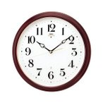 ショッピング壁掛け 壁掛け時計 セイコー HS553B  電波時計 エンブレム 木枠 SEIKO EMBLEM 裏面のみ文字入れ対応、有料 取り寄せ品