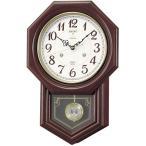 木枠の柱時計 セイコー チャイムで報知 電波時計 壁掛け時計 RQ205B 文字入れ対応、有料 取り寄せ品