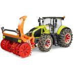 はたらく車 おもちゃ 1/16 農業トラクター BRUDER Claas Axion950 トラクター&スノーチェーン・ブロワ― 03017
