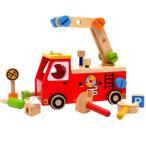 ショッピング木 木のおもちゃ 知育玩具 アイムトイ I'm toy アクティブ消防車