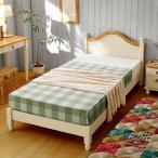 フレンチカントリー風スッキリデザインのかわいいシングルベッドが安い ホワイト色 スノコ仕上げ