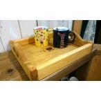 オイル仕上げの質感あるパイン材のかわいいハートのカントリー木工品 焼きハートのトレイS