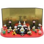 雛人形 キャラクター ディズニー15人 アイコン台 段飾り ミニ雛人形 吉徳 183118