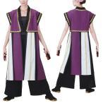 袖なしおどり袢天 紫/白 B 8564 よさこい 踊り衣裳 祭用品 お祭り 祭り小物 はっぴ はんてん 半被 袢纏