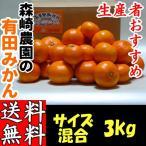 和歌山産 有田みかん サイズ混合3kg 森崎農園が育てた「農家の味!ふる里みかん 3kg」