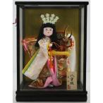 5号舞踊人形八重垣姫木製枠ガラスケース飾り