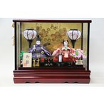 雛人形 コンパクト ケース 舞桜 親王ケース飾り 面取りガラスケース