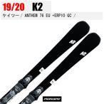 旧モデル K2 ケイツー スキー板 ANTHEM 76 EU + ERP 10 QUIKCLIK アンセム 19-20 S190608101 金具付 19/20 デモ 基礎 オールラウンド 2020
