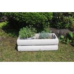 花 野菜 プランターカバー Lサイズ ログタイプ 組立式 選べる2色 鉢カバー 園芸 木製