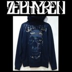 ZEPHYREN ゼファレン LIGHT WEIGHT PARKA -SKULL HEAD- プルオーバー BLACK×CAMO