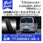 《納期3月上旬予定》VALENTI ヴァレンティ ジュエルLEDテールランプ REVO 200系ハイエース タイプ2 ライトスモーク/ブラッククローム〔TT200HR2-SB-3〕