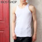タンクトップ メンズ Tシャツ カットソー 無地 フライス タンクトップ ノースリーブ ストレッチ 夏 トップス メンズファッション
