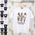 ショッピング柄 Tシャツ メンズ プリントTシャツ 半袖Tシャツ アメカジ カットソー ロゴT 文字 クルーネック 柄 パターン