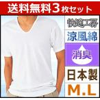 3枚セット 快適工房 涼風綿 半袖U首Tシャツ グンゼ KH6416-SET