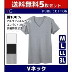 5枚セット VネックTシャツ Vネック Tシャツ メンズ イ