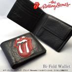 『送料無料』 The Rolling Stones/ローリングストーンズ 『Lips&Tongue』 二つ折り 財布 ウォレット メンズ