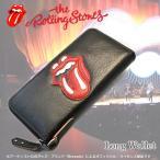 『送料無料』 The Rolling Stones/ローリングストーンズ 『Lips&Tongue』 ラウンドファスナー 長財布 束入れ ロングウォレット メンズ