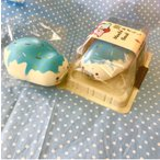 スクイーズ ぷに丸 餅あざらし ブルーベリーアイスクリーム 可愛い ふわふわ やわらか マスコット 食玩 食品サンプル 低反発 甘い香り付き ビッグサイズ