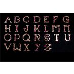 【アルファベット】 スパンコールモチーフ 【A-Z】 (ピンク系)  Tシャツのロゴ等にピッタリ 小さめサイズ
