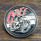 カフェレーサー ピンバッジ CAFE RACER Pin イギリス 英車 バイク バイカー ピンズ UK Biker Rider England