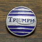 トライアンフ ビンテージ ピンバッジ シルバー/ブルー Triumph Vintage Pin 英国旧車 biker バイク バイカー