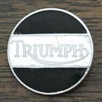 トライアンフ ビンテージ ピンバッジ ホワイト/ブラック Triumph Vintage Pin White/Black 英国旧車 biker バイク バイカー