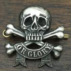 デス オア グローリー  ピンバッジ DEATH OR GLORY SKULL Pin スカル 骸骨 髑髏 WWI Pin 17th / 21st