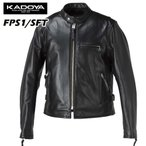 KADOYA カドヤ  レザージャケット 革ジャン FPS-1 SFT 1138  ブラック K'S LEATHER