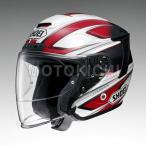 ショッピングFORCE SHOEI J-FORCE4 BRILLER ジェットヘルメット TC-1 レッド/ホワイト ショウエイ