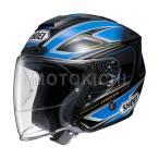 ショッピングFORCE SHOEI J-FORCE4 BRILLER ジェットヘルメット TC-2 ブルー/ブラック ショウエイ
