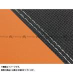 【無料雑誌付き】グロンドマン MT-09 MT-09/FZ-09 国産シートカバー スベラーヌ黒&オレンジ タイプ:張替 仕様:透明ダブルステッチ …