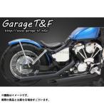 ガレージT&F ドラッグパイプマフラー タイプ1 カラー:ブラック シャドウ400