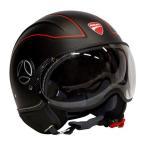 バイク ヘルメット ジェットヘルメット MOMO モモデザイン AVIO PRO マットブラック Ducati アウトレット ■