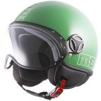 バイク ヘルメット ジェットヘルメット MOMO モモデザイン ファイター グラム グリーン  アウトレット