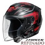 ショッピングFORCE ショウエイ J-FORCE4 REFINADO TC-1(RED/BLACK) バイク用 ジェットヘルメット Jフォース4 レフィナード