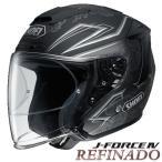 ショッピングFORCE ショウエイ J-FORCE4 REFINADO TC-10(SILVER/BLACK) マットカラー バイク用 ジェットヘルメット Jフォース4 レフィナード