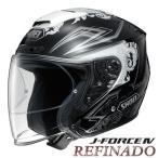 ショッピングFORCE ショウエイ J-FORCE4 REFINADO TC-5(WHITE/BLACK) バイク用 ジェットヘルメット Jフォース4 レフィナード